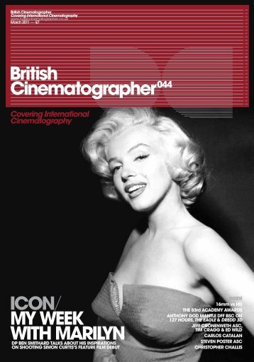 British Cinematographer044 ICON/ MY WEEK WITH MARILYN - Imago