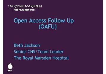 Beth Jackson - The Royal Marsden