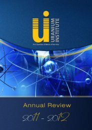 Download Now - The Chamber of Mines Uranium Institute