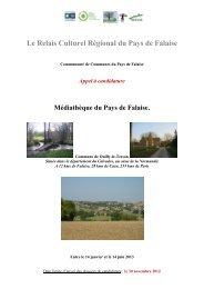 Le Relais Culturel Régional du Pays de Falaise - Communauté de ...