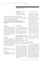 Umbilical cord care at birth: commonplace, traditions and EBM in ...