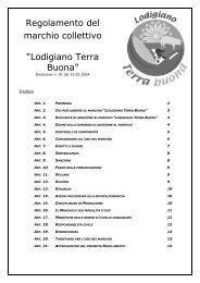 Scarica il regolamento del Marchio - Provincia di Lodi