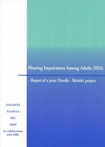 Hearing Impairment Among Adults - Julkari