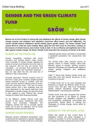 Oxfam: Gender and the green climate fund - Gender Climate