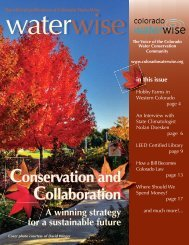 CWW newsletter FALL 2010.indd - Colorado WaterWise