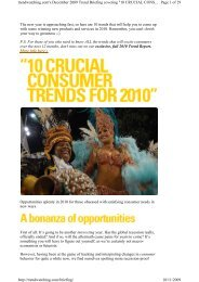 Trendwatching. - Ten crucial consumer trends for 2010 - nov 2009