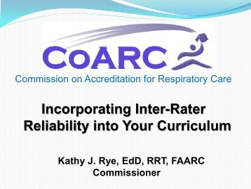 Incorporating Inter-Rater Reliability into Your Curriculum