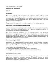WESTMINSTER CITY COUNCIL SUMMARY OF ACCOUNTS 2006 ...