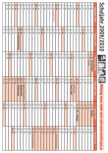 Schuljahr 2009/2010 - rotstift