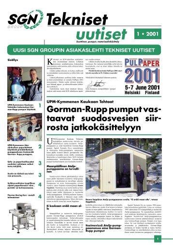 Tekniset Uutiset 1/2001 - SGN Tekniikka Oy