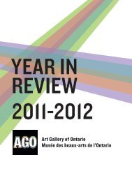 Year in Review (PDF 3.1 MB) - Art Gallery of Ontario