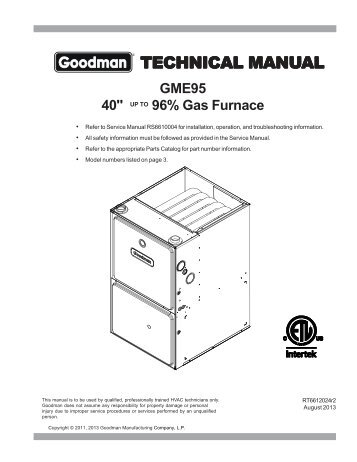 Goodmanmfg on goodman heating pump parts manual