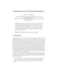 Kernelization for Cycle Transversal Problems - Computer Science