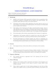 TERMS OF REFERENCE – AUDIT COMMITTEE 2009 - Tullow Oil plc