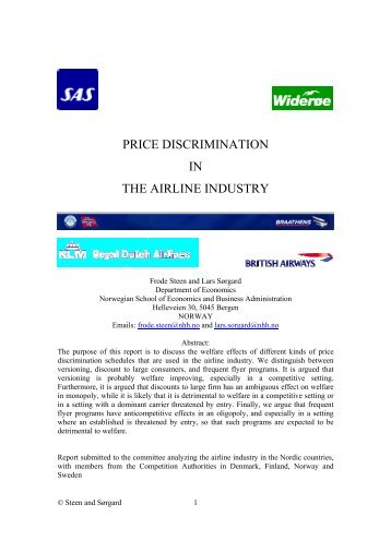 price discrimination in the airline industry - Fagbokforlaget