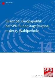 Bilanz der Europapolitik der SPD-Bundestagsfraktion in der 15 ...