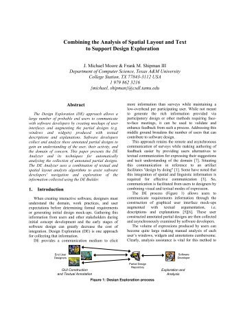 Combining the Analysis of Spatial Layout and Text - Texas A&M ...