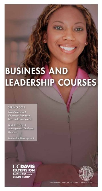 124 118 Business and Leadership.pdf - UC Davis Extension