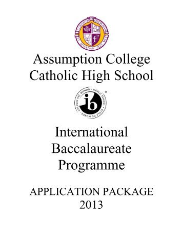 IB Application Pkg 2013.pdf - Windsor-Essex Catholic District School ...