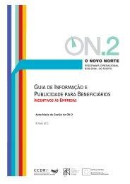 guia de informação e publicidade para beneficiários - O Novo Norte