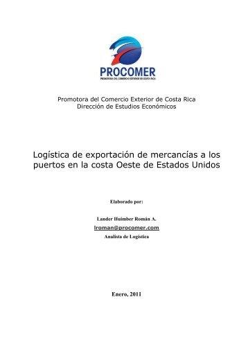 Logística de exportación de mercancías a los puertos en ... - Procomer
