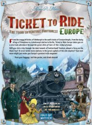 Ticket to Ride Europe - Rules - Days of Wonder