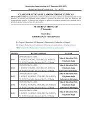 clases prácticas de laboratorio e clínicas - Facultade de Veterinaria ...