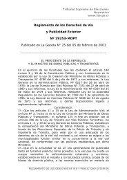 Reglamento de los Derechos de Vía y Publicidad Exterior - Tribunal ...