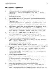 4.4 Conference Contributions - Universität Duisburg-Essen