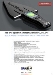 Real-time Spectrum Analyzer Aaronia SPECTRAN V5 - Unitest.com