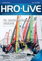 73. WARNEMüNDER WOCHE - HRO·LIFE - Das Magazin für die ...