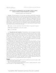 Accurate Uncertainty Quantification Using Inaccurate Computational ...