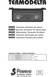 Termostato electrónico para billares Thermostat ... - FAVERO