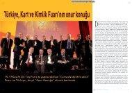 Sektörden yansımalar: Türkiye, Kart ve Kimlik Fuarı ... - Bilişim Dergisi