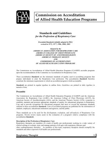 1 - Commission on Accreditation of Allied Health Education Programs