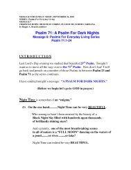 A Psalm For Dark Nights - Christian Hope Church Home