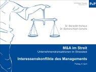 Interessenskonflikte des Managements - P+P Pöllath + Partners