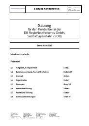 Satzung Kundenbeirat - Südostbayernbahn