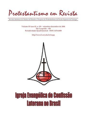 Protestantismo em Revista, volume 05 (Ano 03, n.3) - Faculdades EST