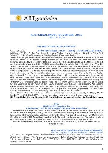 Kulturkalender November 2012 - Embajada de la República ...