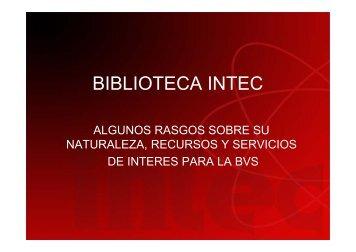BIBLIOTECA INTEC - Biblioteca Virtual en Salud Rep. Dominicana