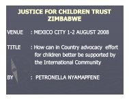 How Can In-Country Advocacy Efforts for Children Better Be ...