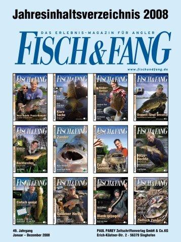 Jahresinhaltsverzeichnis 2008 - Fisch und Fang