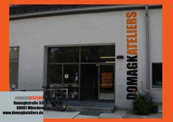 DomagkAteliers Katalog 2009 - Haus 49 Domagk Ateliers