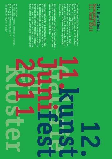 12. K unstfest Sonnabend 11. Juni 2011 - Galerie im Kloster