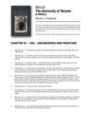 Notes to Chapter 35 - University of Toronto Press Publishing
