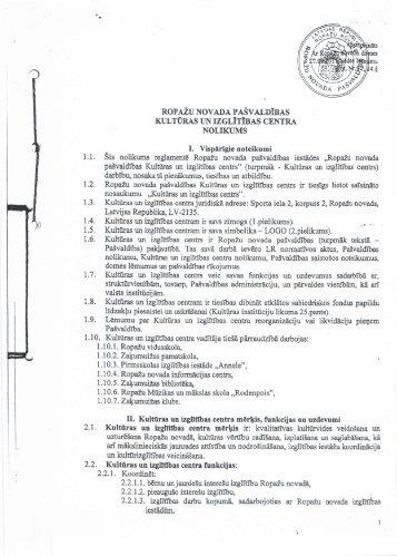 Kultūras un izglītības centra nolikums (*.pdf)