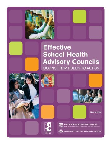 shac manual - North Carolina Healthy Schools