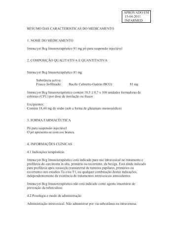 APROVADO EM 15-04-2011 INFARMED RESUMO ... - VectWeb SM