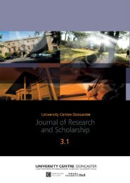 UCD Journal of Research and Scholarship Vol 3 Issue 1 - Doncaster ...